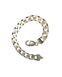 New Heavy Silver Curb Bracelet
