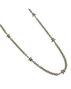 New Sterling Silver Star Necklace
