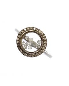 New Sterling Silver Floating CZ Ring