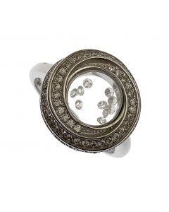 New Sterling Silver Floating CZ Ladies Ring