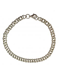 New Sterling Silver Double Curb Bracelet