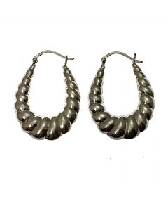 Pre-Owned Sterling Silver Creole Earrings