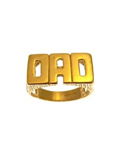 New 9ct Gold DAD Ring