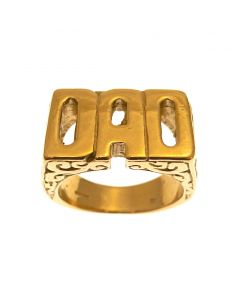 Brand New 9ct Gold  DAD Ring