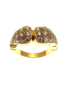 Heavy 9ct Gold CZ Boxing Glove Ring