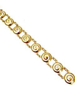 Pre-owned 14kt Gold Fancy Link Bracelet
