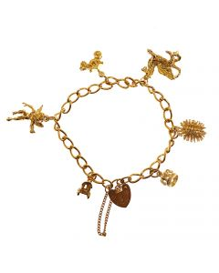 9ct Gold Charms Bracelet
