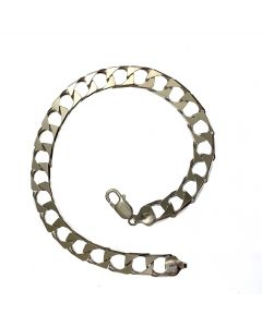 New Silver Curb Bracelet