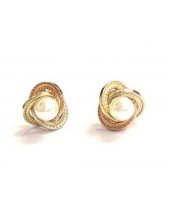 New 9ct Gold Pearl Stud Earrings