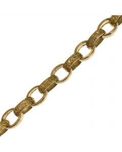 New 9ct Gold Child's Plain & Patterned Belcher Bracelet
