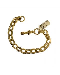New 9ct Gold Plain & Patterned Belcher Bracelet