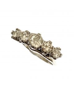 18ct White Gold Diamond 5 Stone Ladies Ring