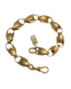 New 9ct Gold Tulip Bracelet