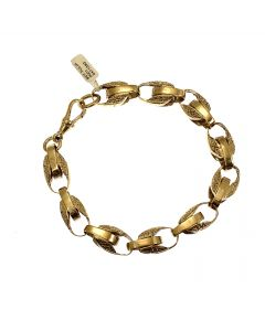 Brand New 9ct Gold Tulip Bracelet