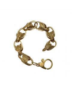 Pre-loved Heavy 9ct Gold Tulip Bracelet