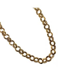 New 9ct Gold Plain & Patterned Belcher Chain
