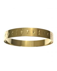 New 9ct Gold Childs Engraved Slave Bangle