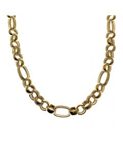 New 9ct Gold Mens Figaro Chain