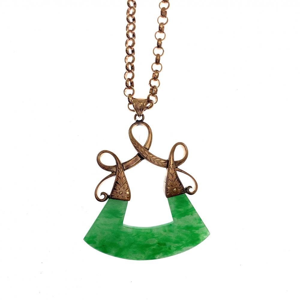 Gold Jade Necklace Jade Necklace Jade Pendants