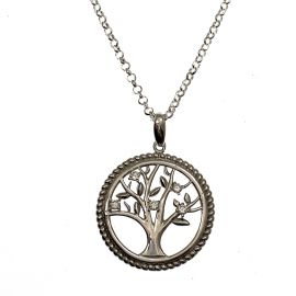 New Sterling Silver Twisted Tree of Life Necklace