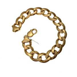 New  9ct Plain & Patterned Curb Bracelet