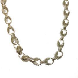 New Heavy Silver Tulip Chain