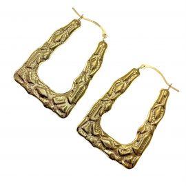 New 9ct Gold Shopping Bag Earrings