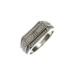 New Silver Gent's Iced Out CZ Ring