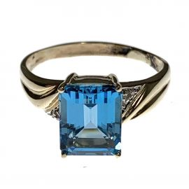Pre Owned Ladies 9ct Gold Cocktail Ring