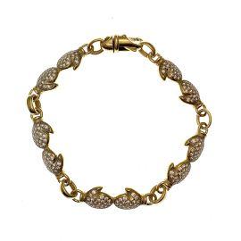 9ct Gold CZ Boxing Glove Bracelet