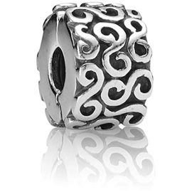 Pre-Loved Silver Swirl Clip Charm