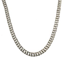 New Sterling Silver Double Curb Chain