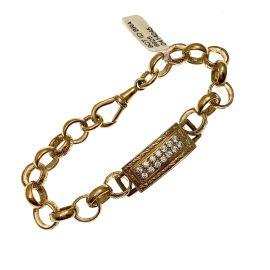 Childs 9ct Gold I D Bracelet