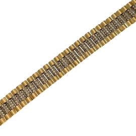New 9ct Gold CZ Rollie Bracelet
