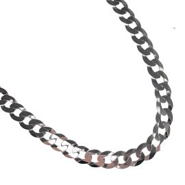 New Silver Chunky Curb Chain