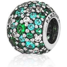 Pre-Owned 925 ALE Blue Green CZ Sparkle Charm