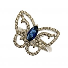 New Sterling Silver Butterfly Ring