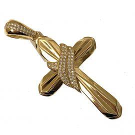 New 9ct Gold CZ Cross Pendant