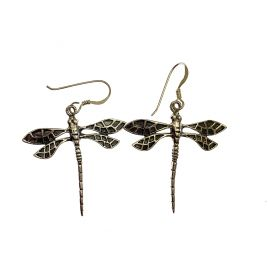 New Sterling Silver Dragonfly Earrings