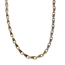 Second Hand Sterling Silver Tri-Coloured Fancy Chain