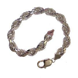 New Diamond Cut Silver Rope Bracelet