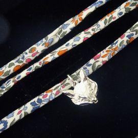 Handmade Liberty of London Wrap Bracelet with Sterling Silver Fox Charm