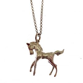 New Sterling Silver Horse Necklace