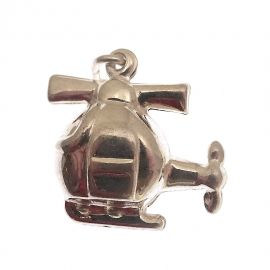 New Sterling Silver Helicopter Charm