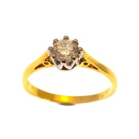 18ct Gold Diamond Solitaire Engagement Ring