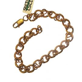Heavy 9ct Gold Albert Bracelet with Fancy Link