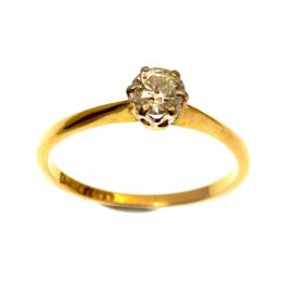 Second Hand 18ct Gold Diamond Engagement Ring