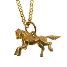 New 9ct Gold Horse Necklace