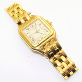 Gents 18ct Gold Panthere Cartier Watch