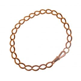 9ct Rose Gold Albert Bracelet